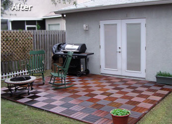 Lovely Snap Together Patio Tiles