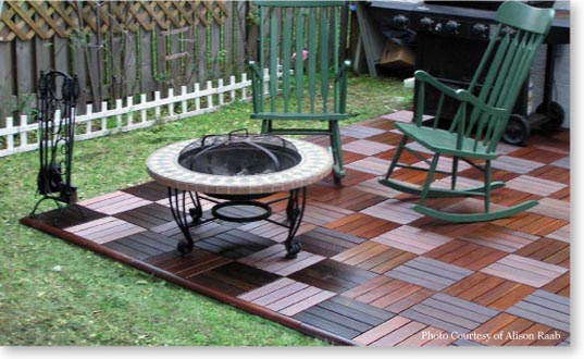 Snap Together Deck Tiles - Wooden Patio Deck Tiles: Snap Together Tiles: DIYPatioDeck.com
